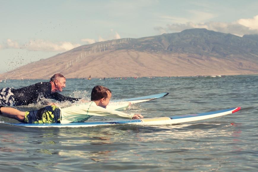 Surfboard race!