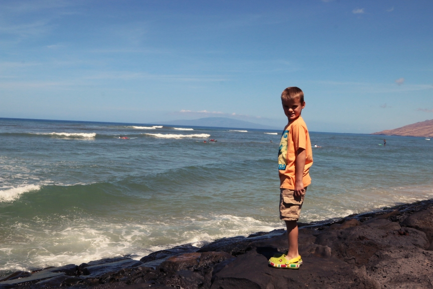 Checking out the surfers!