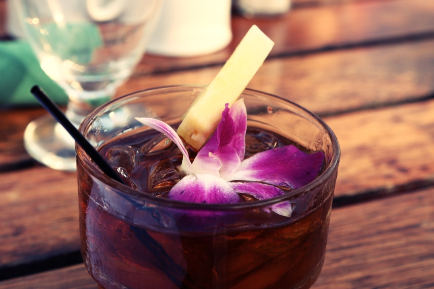 A drink with a flower in it has to be good! #maitai